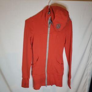 Lululemon size 2 orange/red zip hoodie
